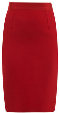Giambattista Valli Wool-crepe pencil skirt