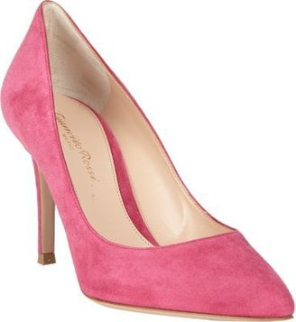 Gianvito Rossi Suede Point-Toe Pumps