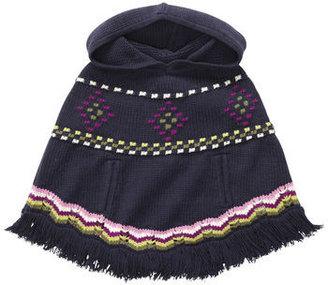 Osh Kosh Cable Knit Hooded Poncho