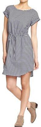 Old Navy Women's Striped Waisted Chambray Dresses