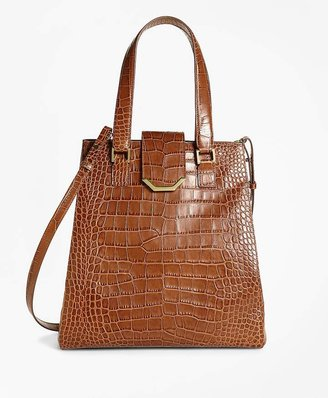Brooks Brothers Large Exotic Embossed Tote