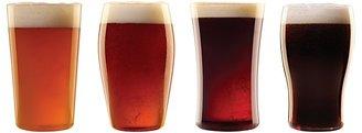 Luigi Bormioli Assorted Craft Beer Glasses, Set of 4