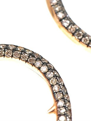 Diane Kordas White diamond & gold horn bangle