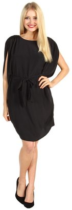 Suzi Chin for Maggy Boutique - Batwing Belted Dress (Black) - Apparel