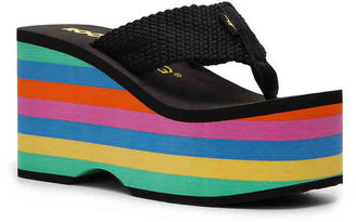 Rocket Dog Women's Big Top Wedge Flip Flop -Black