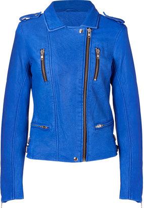IRO Blue Anabela Leather Jacket