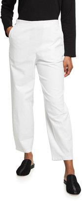 Eileen Fisher Organic Cotton-Hemp Stretch Lantern Ankle Pants