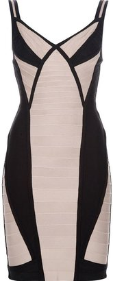 Herve Leger bandeau panel dress