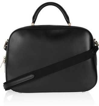 The Row Small Bowler leather tote
