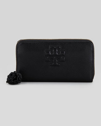Tory Burch Thea Continental Zip Wallet, Black