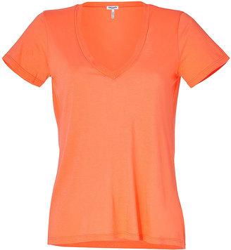 Splendid Poppy Orange V-Neck T-Shirt