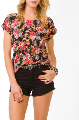 Forever 21 Floral High-Low Top