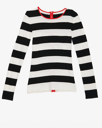 Intermix Exclusive For Contrast Zipper Striped Top