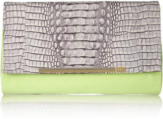 Diane von Furstenberg Adele snake-effect leather clutch