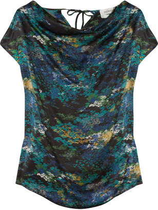 Yves Saint Laurent Printed silk-satin blouse
