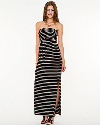 Le Château Stripe Knit Maxi Tube Dress