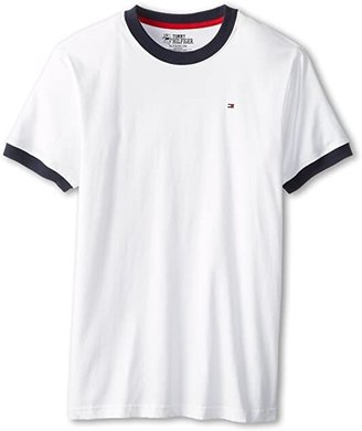 Tommy Hilfiger Ken Tee (Big Kids) (Classic White) Boy's T Shirt