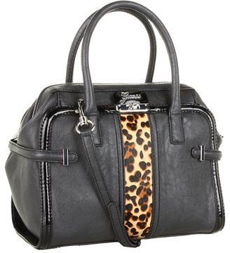 GUESS Tasya Box Satchel (Black) - Bags and Luggage
