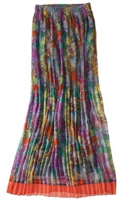 Mb Mossimo® Women's Pleated Chiffon Maxi Skirt - Floral Print
