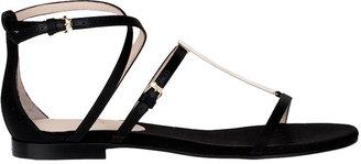 Emilio Pucci Flat satin sandal