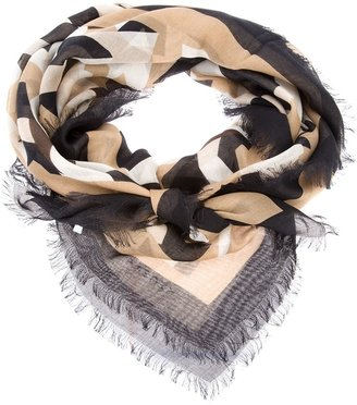 Givenchy camouflage printed scarf