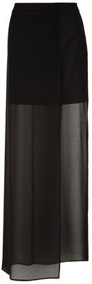 Maison Martin Margiela sheer panel maxi skirt