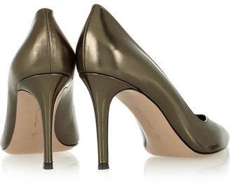 Gianvito Rossi Metallic leather pumps