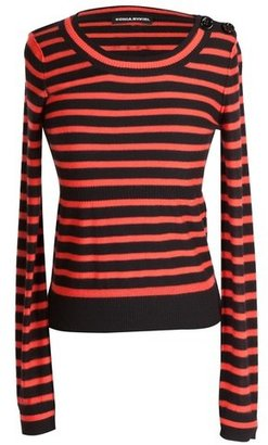Sonia Rykiel Red and Black Stripe Sweater