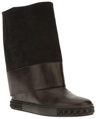 Casadei flat mid calf boot