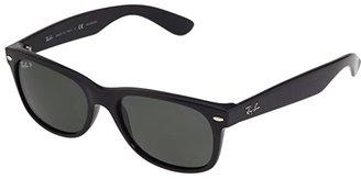 Ray-Ban RB2132 New Wayfarer Polarized 55mm (Black/Crystal Green Polarized Lens) Fashion Sunglasses