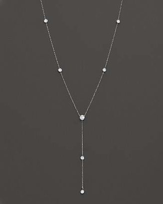 """Bloomingdale's Diamond Station Lariat Necklace in 14K White Gold, 16"""""""