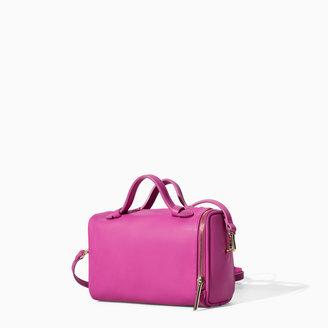 Zara Mini Bowling Bag With Zips