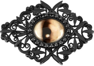 Bottega Veneta Ruthenium-plated silver eye brooch