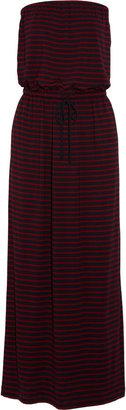 J.Crew Amie striped jersey maxi dress