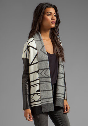 Twelfth St. By Cynthia Vincent By Cynthia Vincent Ramble On Leather Sleeve Log Cabin Cardigan
