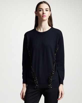Stella McCartney Beaded Crewneck Sweater