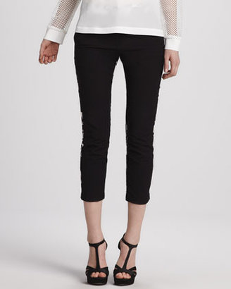 Tibi Printed Cropped Pants