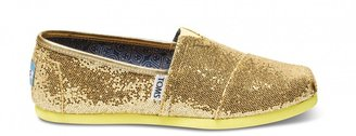 Toms Canary Youth Glitters