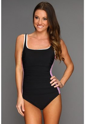 Miraclesuit Stars in Stripes Racer One-Piece Swimsuit (Pink) - Apparel