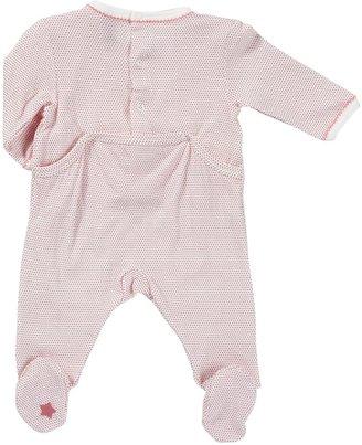 Petit Bateau Dot Print Footie - Pink/White-Preemie