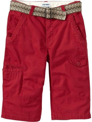 Old Navy Boys Belted Ripstop Cargo Shorts