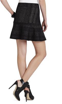 BCBGMAXAZRIA Astera Jacquard Skirt