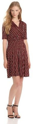 Plenty by Tracy Reese Women's Loop and Chain Jersey Draped Frock