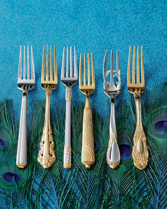 Wallace 80-Piece Gold-Plated Antique Baroque Flatware