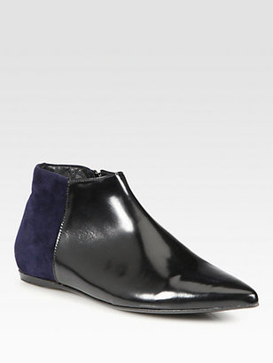 Pierre Hardy Two-Tone Leather and Suede Ankle Boots