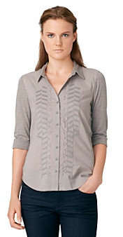 Calvin Klein Jeans Mix Media Embroidered Top
