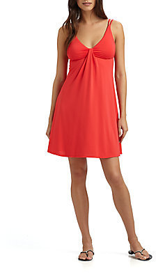 Carmen Marc Valvo Sunny Isles Braided-Strap Dress