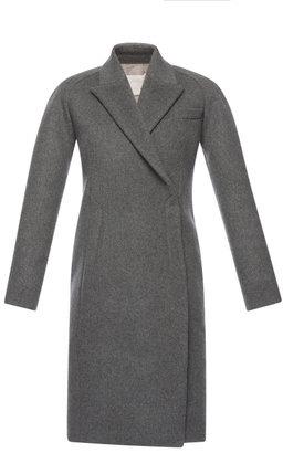 Antonio Berardi Charcoal Wool Felt Dress Coat