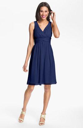 Donna Morgan 'Jessie' Twist Silk Chiffon Dress