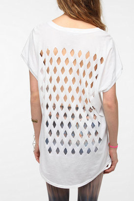 Truly Madly Deeply Geo Print Cutout Tee